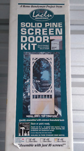 Solid Pine Screen Door Kit