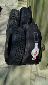 good condition, size is 195/65 R15 (picture attached)