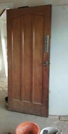 Oak external door
