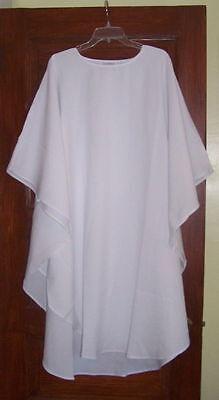 Plain White Wedding Clergy Chasuble / Vestment Robe minister interfaith