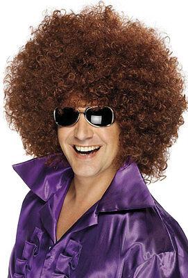 Disco Daddy Afro Perücke braun NEU - Karneval Fasching Perücke Haare