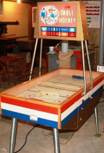 TABLE HOCKEY ARCADE MACHINE by BALLY (Excellent) *RARE*