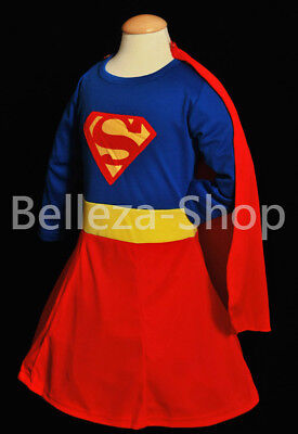 Toddler Girl 2t Halloween Costumes (Superwoman Superhero Girl Costume Cosplay Outfit HALLOWEEN Party Size 2T-7)