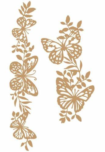 Prima Decorative Chipboard Embellishment BUTTERFLY BORDERS #647384