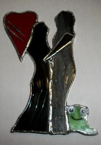 "Stained Glass Christmas Tree -- Hand Made -- Approx. 4""- 6"" high London Ontario image 9"
