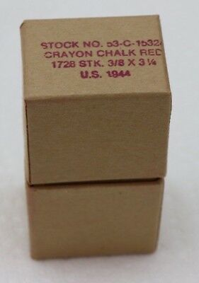 WWII red demolition marking chalk original boxes packed with sawdust each  E6262