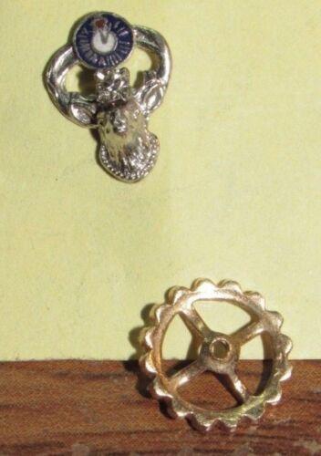 Vintage Elks Club Platinum Member Pin w/ Diamond & 14k Gold Clasp