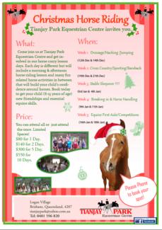 Horse Riding School Holiday Program