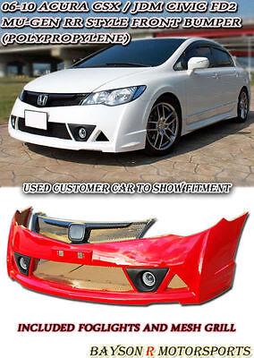 Mu-gen RR Rear Lip LED Brake Lights Fits 06-11 CSX Dual Exhaust JDM Civic