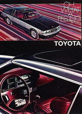 1981 Toyota Celica Supra - Feeling - Classic Vintage Advertisement Ad D30