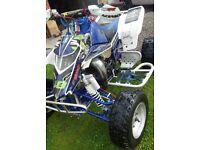 Yamaha blaster 200cc race quad 2 stroke