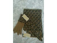 Brand new genuine Michael Kors scarf and gloves