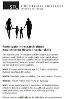 Looking for children age 7-12 and their parents for research!