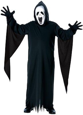 Howling Ghost Face Scream Hooded Robe Mask Fancy Dress Halloween Child Costume