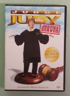 judge judy JUSTICE SERVED  DVD  genuine region  1