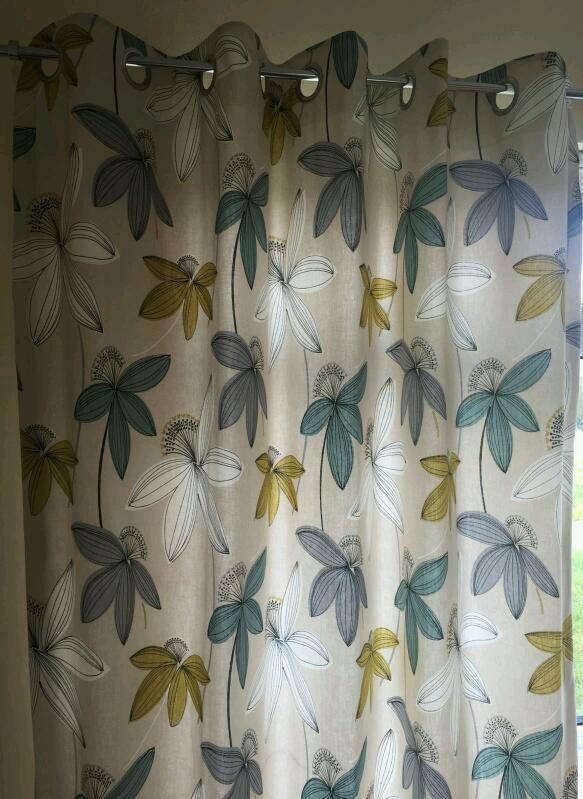 Dunelm Duck Egg Romolo Lined Eyelet Curtains | in Fairwater ...