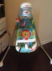 Like new, Fisher price swing, asks for $80