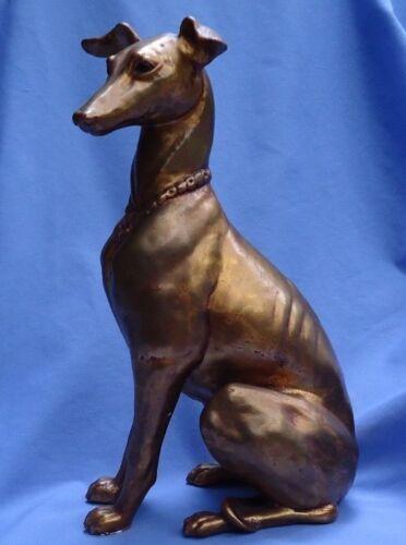 """14"""" WHIPPET ITALIAN GREYHOUND KAY FINCH MCFARLIN GOLD DOG"""