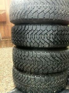 4 GOODYEAR NORDIC 195 65 15 WINTER TIRES HIVER  NO TEXTING