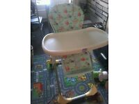 CHICCO HIGH CHAIR-ANIMALS