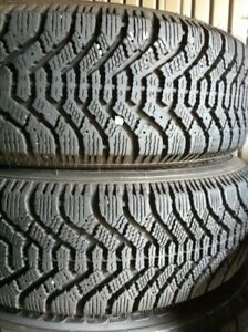 2 GOODYEAR NORDIC 205  65 15 WINTER TIRES PNEUS HIVER