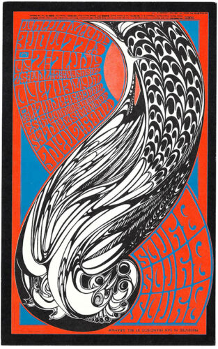 THE BYRDS Moby Grape FILLMORE and Winterland POSTCARD BG 57 1967