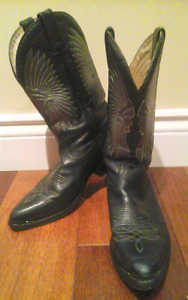 BOULET LEATHER COWBOY WESTERN BOOTS