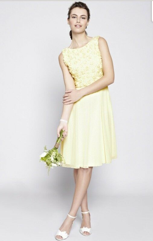 Lemon Rose Bridesmaids Wedding Dress Maid Of Honor Bhs 14