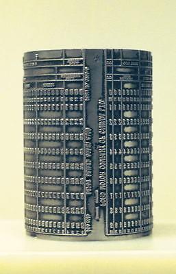Vintage Ibm Keypunch Card Printing Plate English 80 Col
