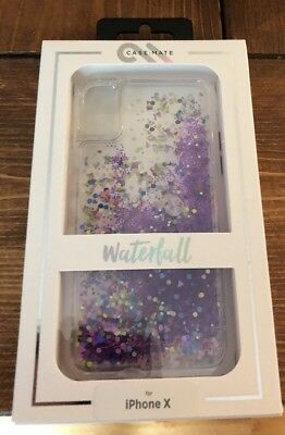 - New Case-mate Waterfall Glow Purple For Iphone X 10 XS