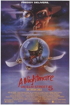 A NIGHTMARE ON ELM STREET 5 ~ DREAM CHILD 24x36 MOVIE POSTER Freddy Kreuger