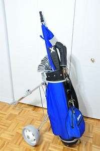 Mens Golf Club Set with Bag & Caddy