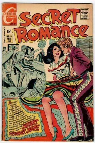 🚚 Secret Romance No.11 Feb.1971 Charlton 15c Bronze-Age Comic in VG+ 4.5