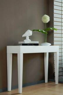 100cm White Gloss Side Table - Brand New in Box