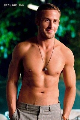 RYAN GOSLING ~ ABS 24x36 PINUP POSTER Male Crazy Stupid Love (Ryan Gosling Abs)