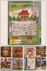 BRAND NEW LIMITED EDITION NEW NINTENDO 3DS XL  10 games + charger Turramurra Ku-ring-gai Area Preview