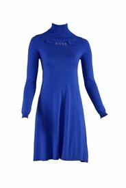 Scee Blue Skater Style Designer Jumper Dress BNWT RRP £139 BNWT