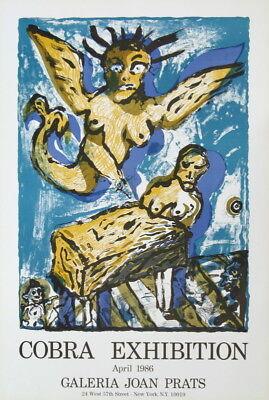 COBRA EXHIBITION Lucebert - Galeria Joan Prats Barcelona 1986 - Farblithografie