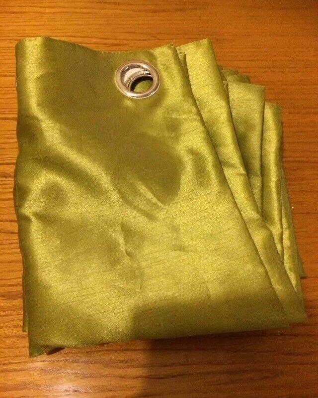 Dunelm green curtains 90W x 54D