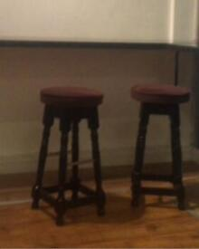 3 bar stools & seating pads