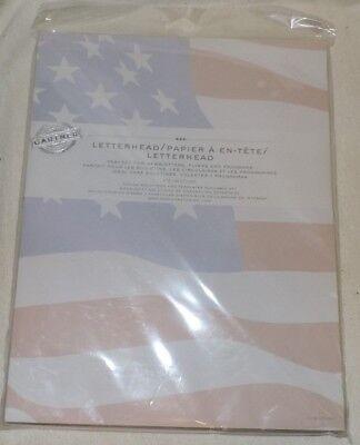 American Flag Letterhead Paper-Gartner 100 CT. ()