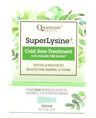 Quantum Health - Super Lysine Plus, Cold Sore Treatment, Soothes & (Quantum Health Super Lysine Cold Sore Treatment)