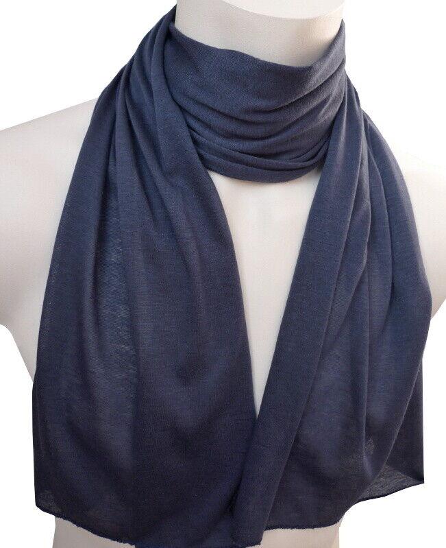 leichter Jersey Damen Schal blau uni einfarbig Damenschal 1001