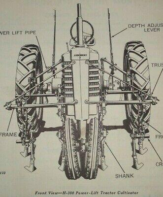 John Deere H-300 Series Row-crop Cultivator Parts Catalog Manual Book Original