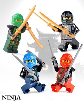 Lot of 4 pcs Lego NINJA 4Colors People/Figure set Toy Collection Gift U.S Seller