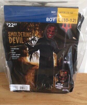 Devil Light Up Costume Boy's Large Smoldering New Halloween Cosplay Set](Devil Costume For Boy Halloween)