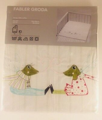 "New! Ikea Fabler Groda Frogs Quilt Cover Pillowcase 43"" X 49"""