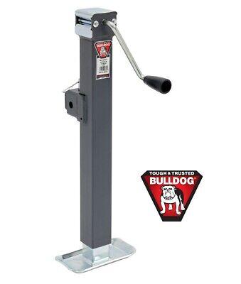 Bulldog Tubular Swivel Jack (Bulldog 5K Square Trailer Jack w/ Square Tubular Swivel Mount Topwind - 15