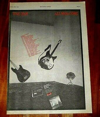 THE JAM ALL MOD CONS FULL PAGE PRESS ADVERT POSTER SIZE NME 78 37/26CM + REVIEW (All Posters Review)