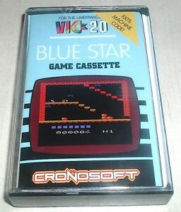 Commodore Vic 20 - NEW GAME - Blue Star -  (Cronosoft) Homebrew